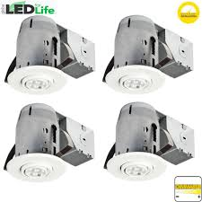 Led Bulbs For Recessed Can Lights by Globe Electric 4 In White Ic Rated Dimmable Round Recessed