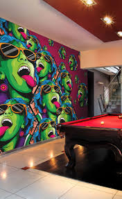 30 best ideas for man caves bachelor pads basements and garages rave girl wall mural