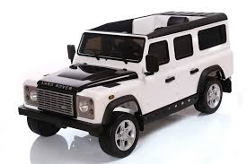 white land rover defender ride on range rover style 12v electric jeep
