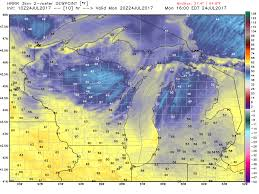 Us Dewpoint Map Michigan Weather Today Temperatures Take A Radical Turn Mlive Com