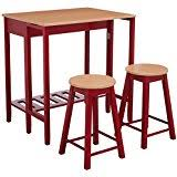 amazon com red table u0026 chair sets kitchen u0026 dining room