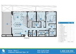 200 Sq Ft Apartment Floor Plan by Floor Plan Of Mayan Yas Island