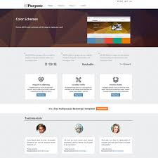 mpurpose free responsive ecommerce website template