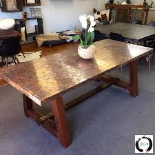 Copper Dining Table - Copper kitchen table