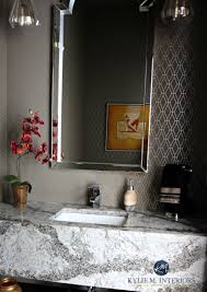 small bathroom powder room floating vanity cambria galloway