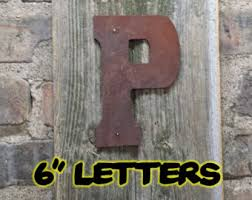 Home Decor Initials Letters Rustic Letter Etsy
