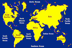 World Continents And Oceans Map by Continents And Oceans Geohaunt Geohaunt All About Geography