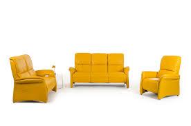 Modern Italian Leather Sofas Casa Sunflower Modern Yellow Italian Leather Sofa Set
