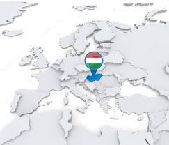 A Map Of Europe Hungary On A Map Of Europe U2014 Stock Photo Kerdazz7 52550415