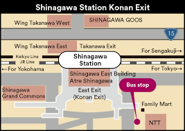 shinagawa station map konan exit shinagawa sta direct gotemba premium