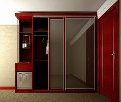 glass mirror closet doors furniture charming red wooden wardrobe armoire with slidding