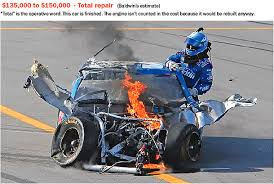 Auto Engine Repair Estimates by Breakdown Of A Nascar Crash And Repair The Washington Post