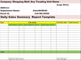 template for summary report restaurant daily sales report template tm sheet