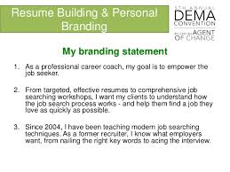 resume building personal branding and resume building dema 2016