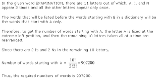 ncert solutions for class 11th maths chapter 7 permutation and