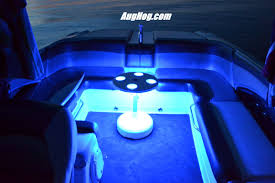 pontoon boat led light kits blue led light kit on one our our boat tables this one happens to