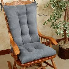 Gray Rocking Chair Twillo Slip Resistant Rocking Chair Cushion Set