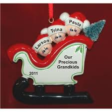 sleigh for grandkids 3 new baby for grandparents ornaments