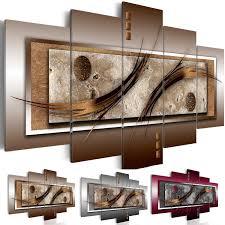 wohnzimmer leinwand wandbilder abstrakt leinwand bilder braun grau wohnzimmer