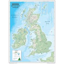 Map Of World Uk by Reversible Map Of The British Isles Globes Maps And Atlases