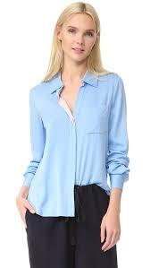 diane von furstenberg carter blouse in colour powder blue modesens