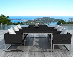 salon de jardin exterieur resine salon de jardin design 1 table 6 fauteuils sur salon de jardin