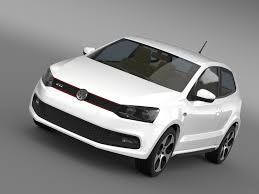 volkswagen polo white volkswagen polo gti 3d 2009 2013 cgtrader