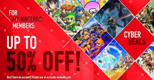 europe cyber deals sale now live for my nintendo members