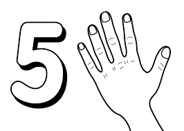 homely inpiration number 5 coloring page 19 number says five