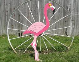 yard flamingo etsy