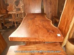 wood table bali