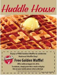 coupons for restaurants free waffle friday at huddle house restaurants coupon via the