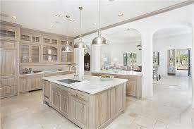 Contemporary Kitchen With Builtin Bookshelf  Limestone Tile - Kitchen cabinets maryland