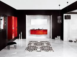 Black And White Bathroom Ideas Gallery by White Vanity Under Neon Lighting Black And White Bathroom Decor