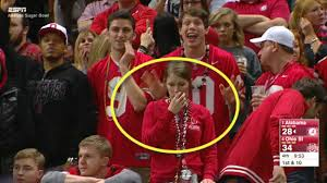 Funny Ohio State Memes - did this awkward ohio state fan get caught cheating on live television