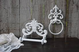Full Bathroom Sets by Bathroom Set White Bath Tissue Holder Towel Ring Shabby