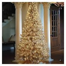 gold christmas tree gold and platinum artificial christmas tree frontgate polyvore