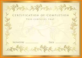 certificate of completion free template word 10 certificate of completion templates free download weekly u2013 best
