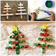 noodle popsicle stick tree craft crafty morning