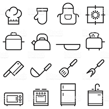 kitchen icon kitchen thin line icons stock vector art more images of apron