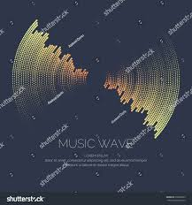 poster sound wave vector illustration on stock vector 630868835
