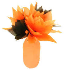 Flower Vase Crafts Halloween Tissue Paper Flowers And Juice Jar Vase