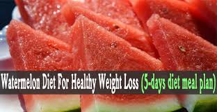 watermelon diet for healthy weight loss 5 days diet meal plan