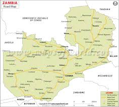 map of zambia road map