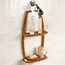 bathroom teak corner shower caddy make you easy in bath elegant