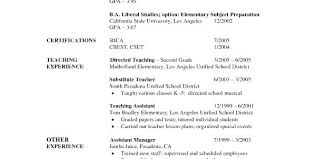 free basic resume templates resume for substitute free free sle resume kindergarten