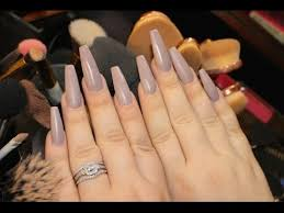 getting my nails done matte mauve acrylic nails coffin youtube