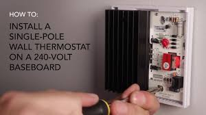 how to install wall thermostat single pole on 240v baseboard