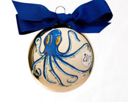 octopus ornament etsy