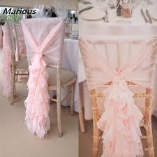 Gold Chair Sashes Wedding Pre Tied Chair Sash Organza Hoods Cheap Rose Gold Chair